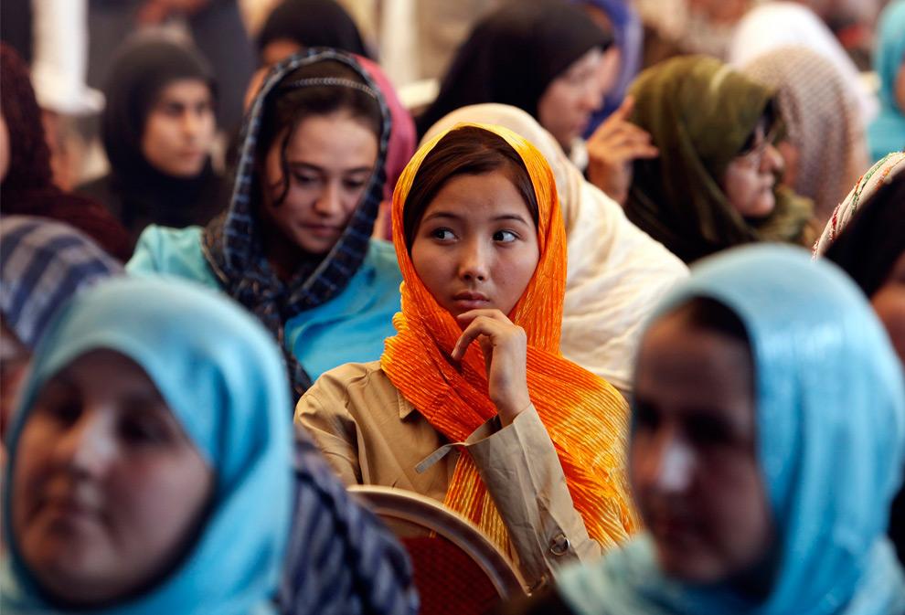 Donne a un comizio in Afghanistan